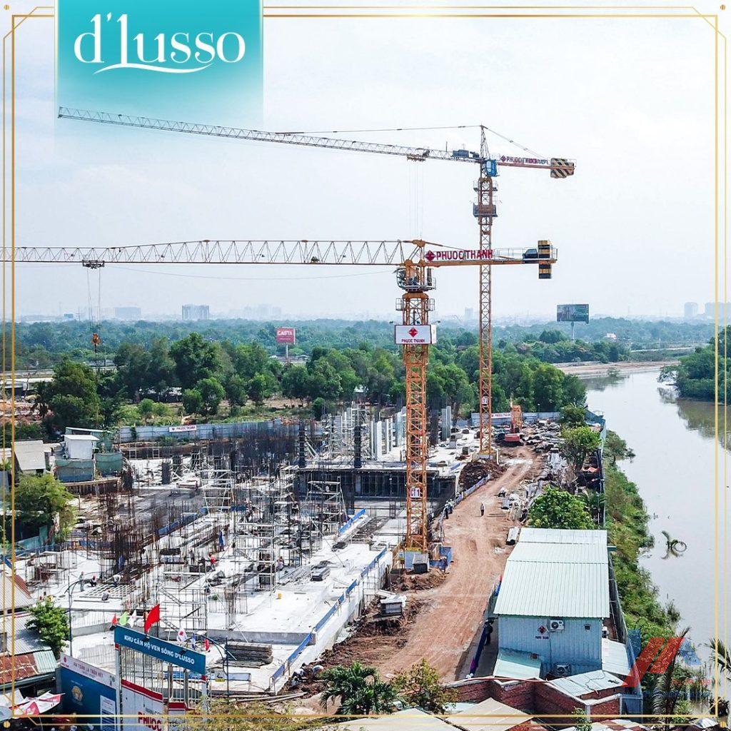 tiến độ thi công dự án D'Lusso Emerald Quận 2